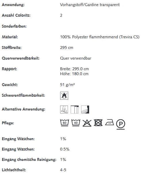 Gardinenstoffe Blumenmuster Creation Baumann Herba Info