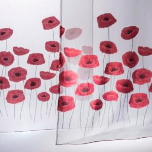 Gardinenstoffe Blumenmuster Christian Fischbacher Papveri 10716