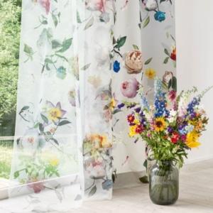 Gardinenstoffe Blumenmuster Creation Baumann ROSE VOILE