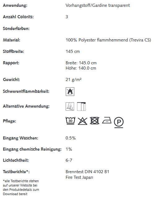 Gardinenstoffe Blumenmuster Creation Baumann SEMIRAMIS Info