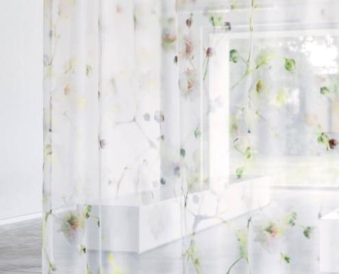 Gardinenstoffe Blumenmuster Creation Baumann SOPHILA