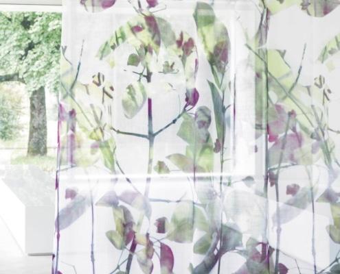 Gardinenstoffe Blumenmuster Creation Baumann VERDENA