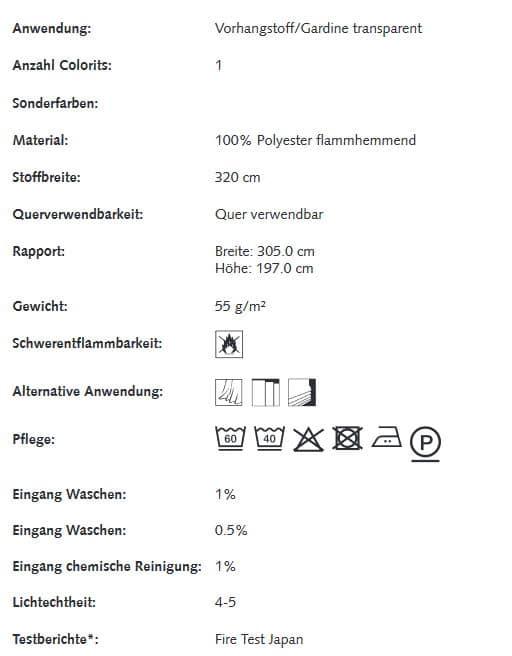 Gardinenstoffe Blumenmuster Creation Baumann VERDENA Info