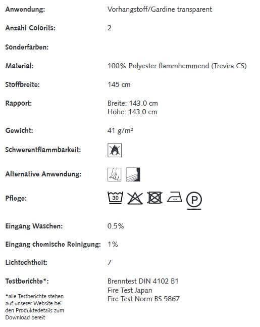Gardinenstoffe Blumenmuster Creation Baumann VIENTO S Info