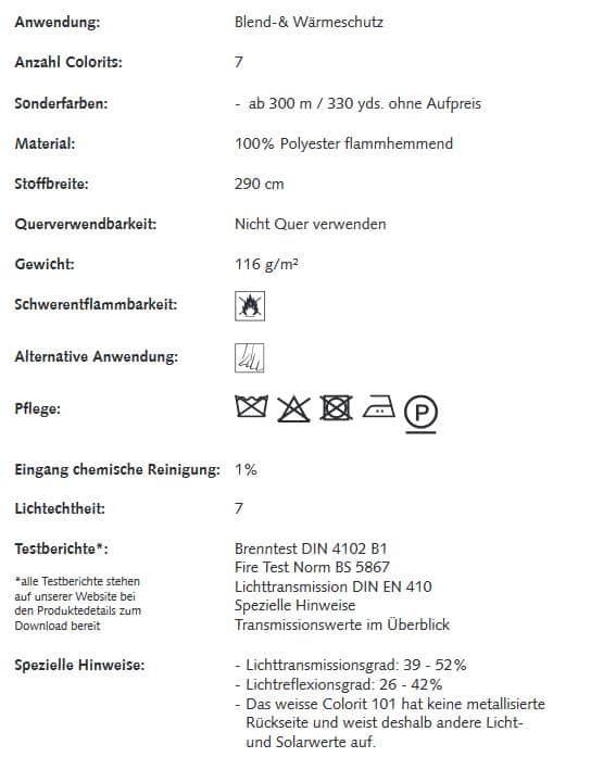 Gardinenstoffe Wärmeschutz Blendschutz ALU Net Creation Baumann 0101330 Info