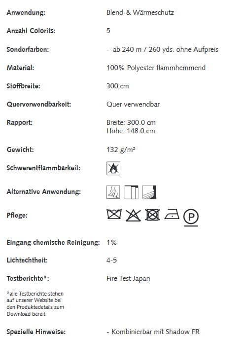 Gardinenstoffe Wärmeschutz Blendschutz Glade Creation Baumann 0101400 Info