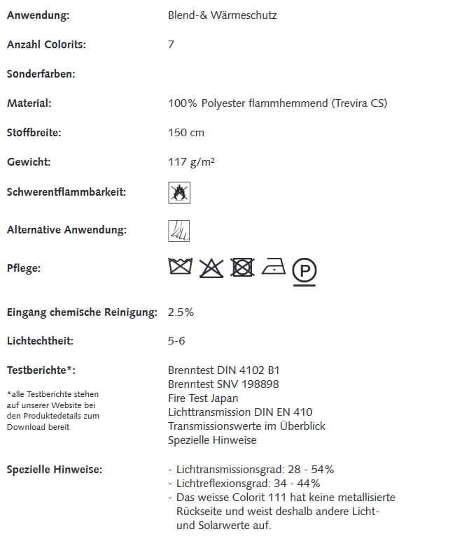Gardinenstoffe Wärmeschutz Blendschutz Guard Creation Baumann 0008760 Info