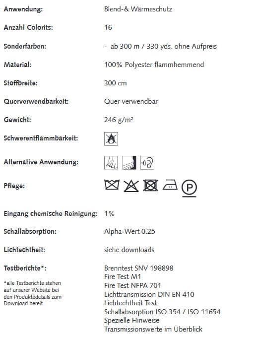 Gardinenstoffe Wärmeschutz Blendschutz SHELTER Creation Baumann 0101155 Info