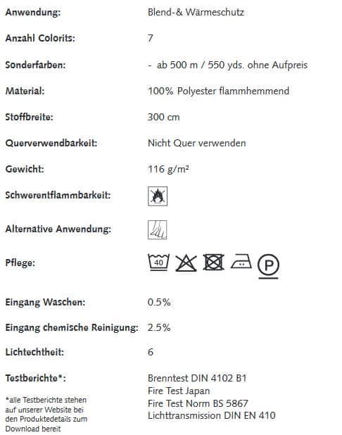 Gardinenstoffe Wärmeschutz Blendschutz STEEL NET Creation Baumann 0100206 Info