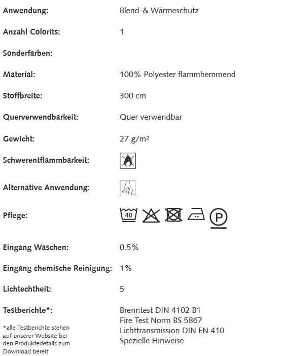 Gardinenstoffe Wärmeschutz Blendschutz STEEL STRIE Creation Baumann 0100186 Info