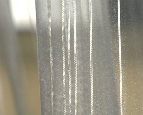 Gardinenstoffe Wärmeschutz Blendschutz STEEL STRIPE Creation Baumann 0100190