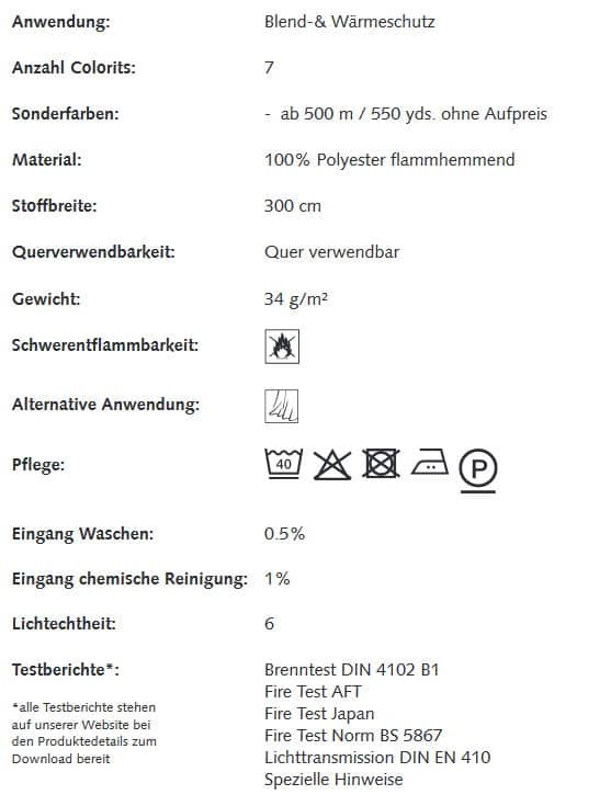 Gardinenstoffe Wärmeschutz Blendschutz STEEL STRIPE Creation Baumann 0100190 Info