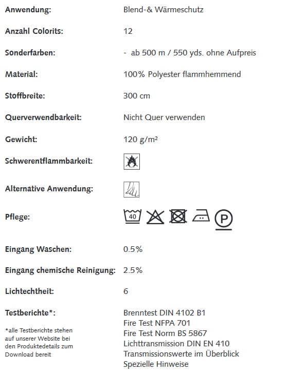 Gardinenstoffe Wärmeschutz Blendschutz STEEL TEX II Creation Baumann 0100205 Info