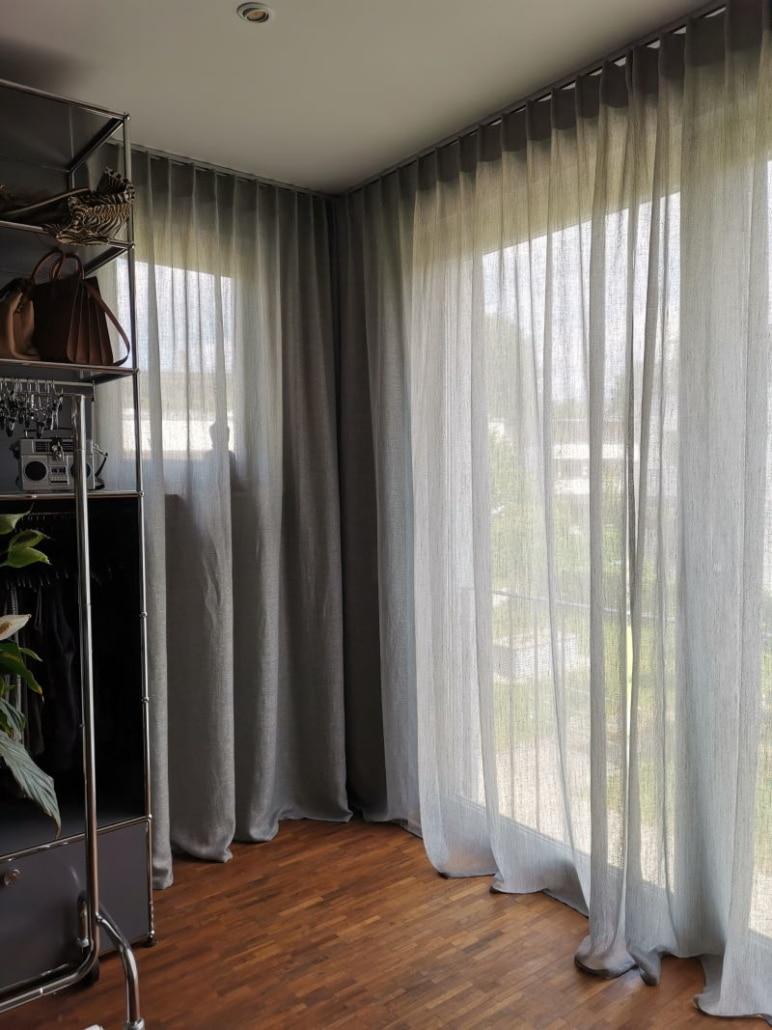 Edle Gardinen für moderne Wohnung Ankleide