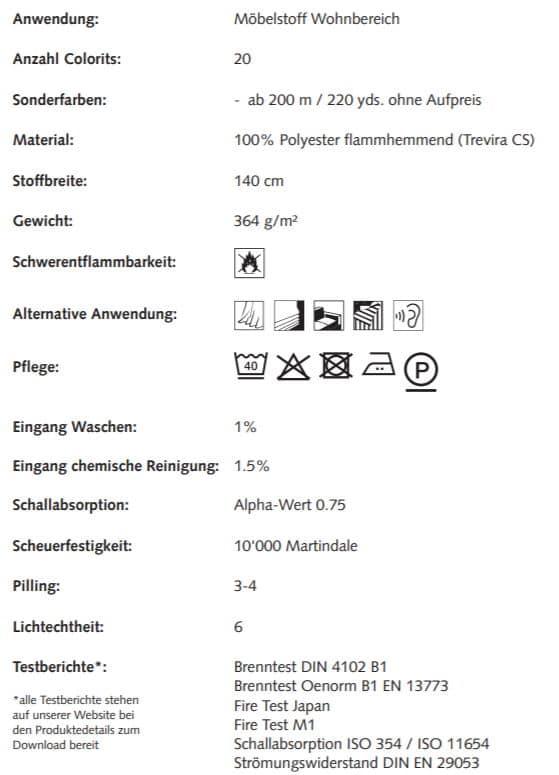 Bezugsstoff Ökologisch Calvaro 0100780-0302 Creation Baumann Info
