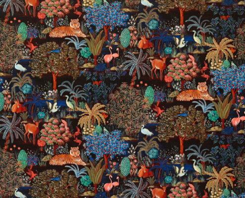 Bezugsstoff-Blumenmuster F3470002 Le jardin du palais velours Pierre Frey