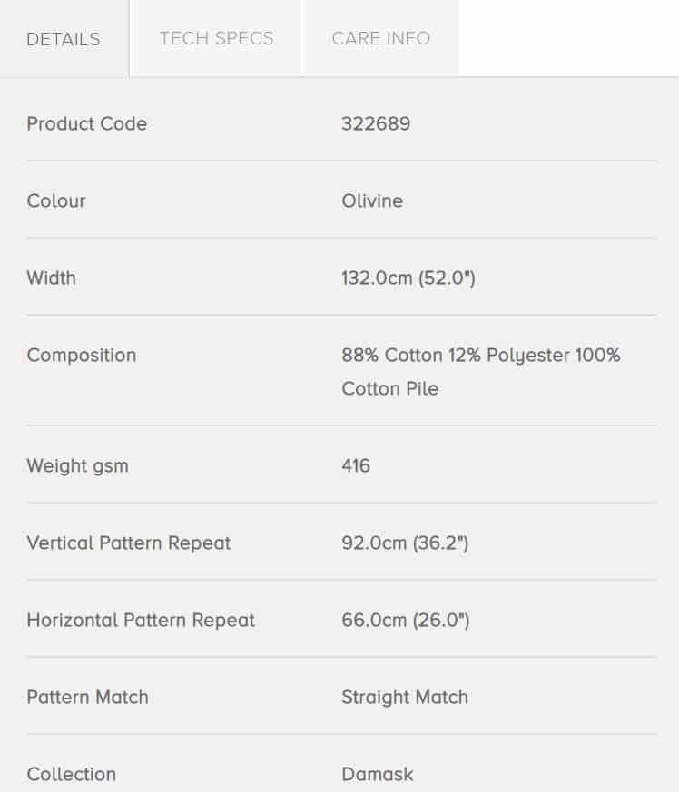 Bezugsstoffe gemustert Ducato Velvet 322689 Zoffany Info
