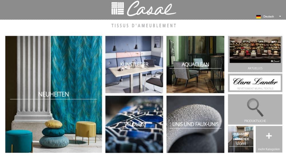 Homepage Dekostoffe kaufen von Casal