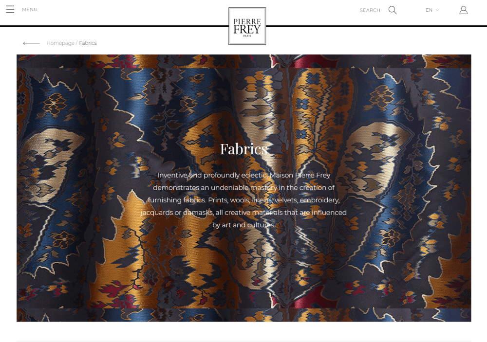 Homepage Dekostoffe kaufen von Pierre Frey