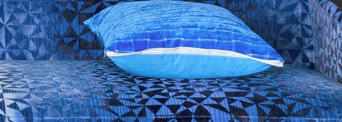 Polsterstoffe blau Scene