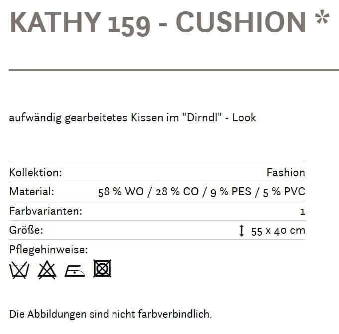 Alpines Kissen Kathy 159 grau Info