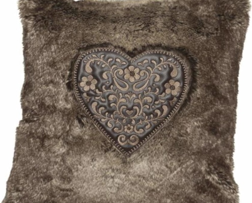 Romantische Herzkissen Sweet Heart 149 braun