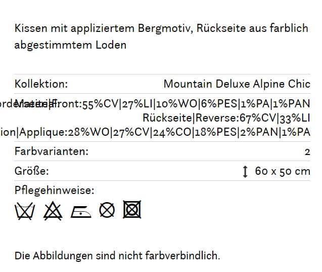 Alpines Kissen Serles 140 braun Info