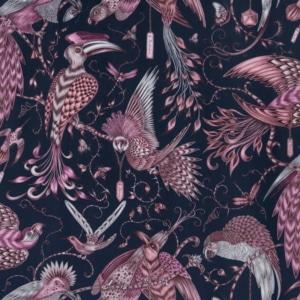 Bezugsstoff-gemustert-Shipley-Audubon Pink Velvet F1207-01 Clarke-Clarke