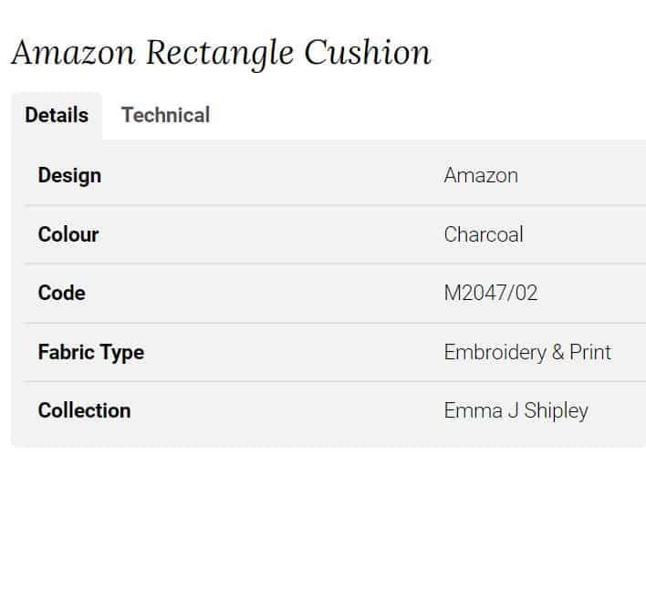 Clarke Clarke Amazon Rectangle Cushion braun M2047-02 Info