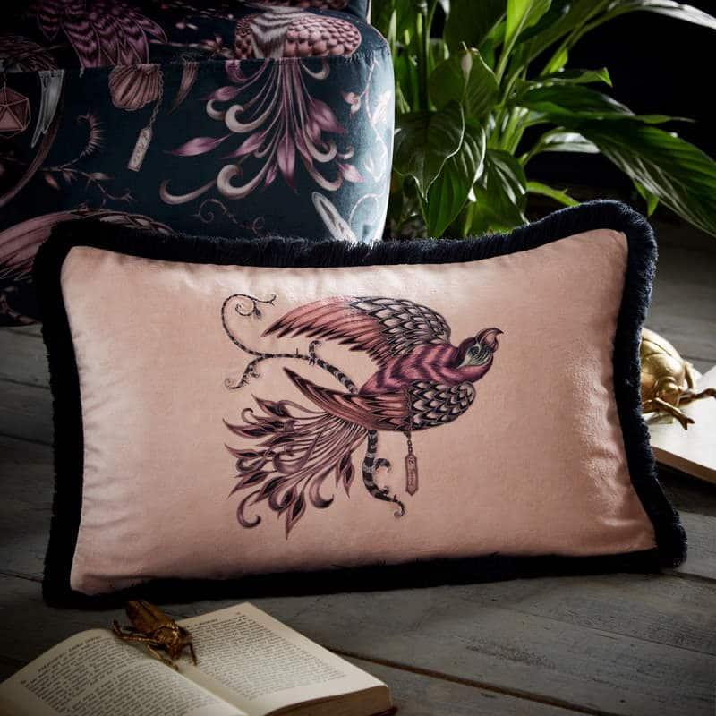 Clarke Clarke Audubon Rectangle Cushion rosa M2048-02