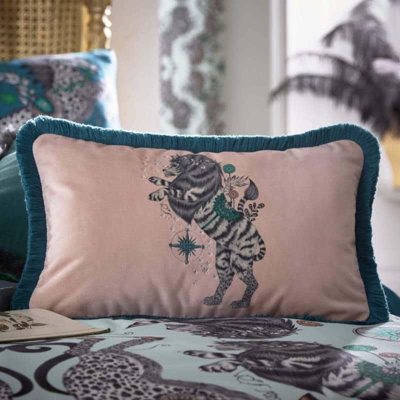 Clarke Clarke Caspian Boudoir Cushion Rosa M2174-02