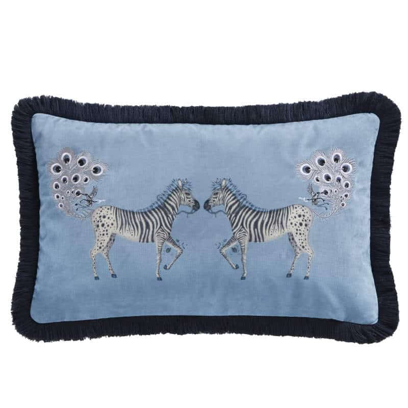 Clarke Clarke Lost World Boudoir Cushion hellblau M2175-02