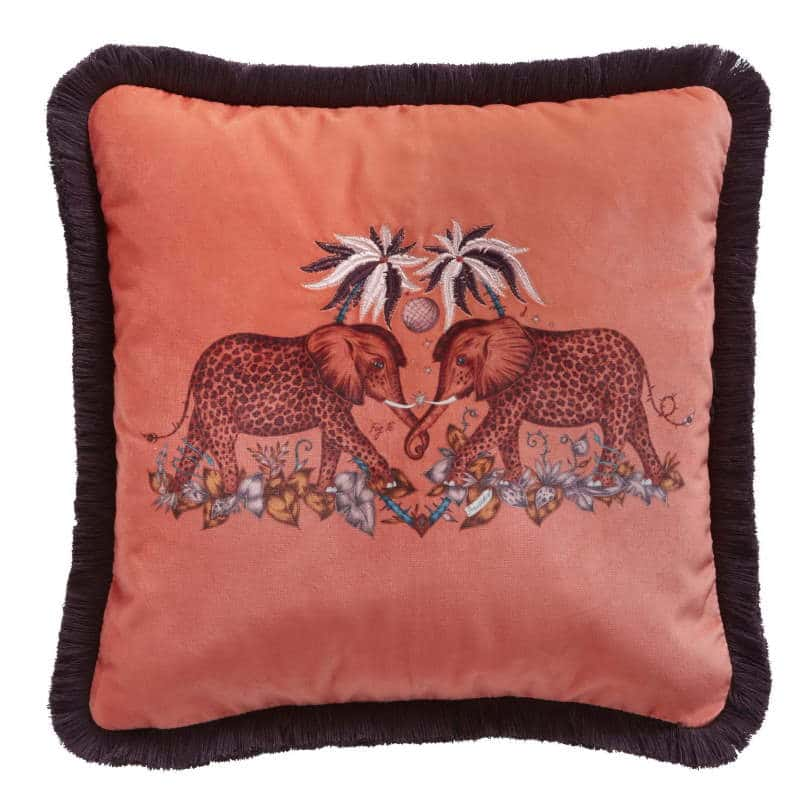 Clarke Clarke Zambezi Flame Square Cushion rosa M2051-03