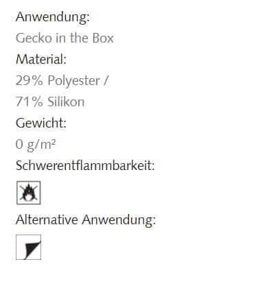 Hafttextil Gecko-in-der-Box Coleo Creation Baumann Info