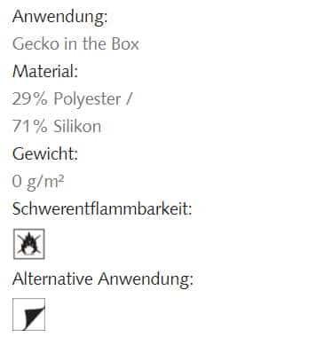 Hafttextil Gecko-in-der-Box Cucina Creation Baumann Info