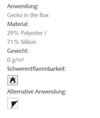Hafttextil Gecko-in-der-Box Easter Creation Baumann Info
