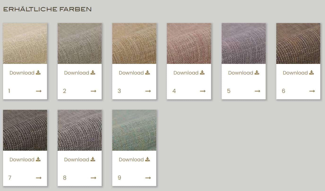 Vorhangstoff Uni Castello 320cm Kobe Interior Fabrics Farben
