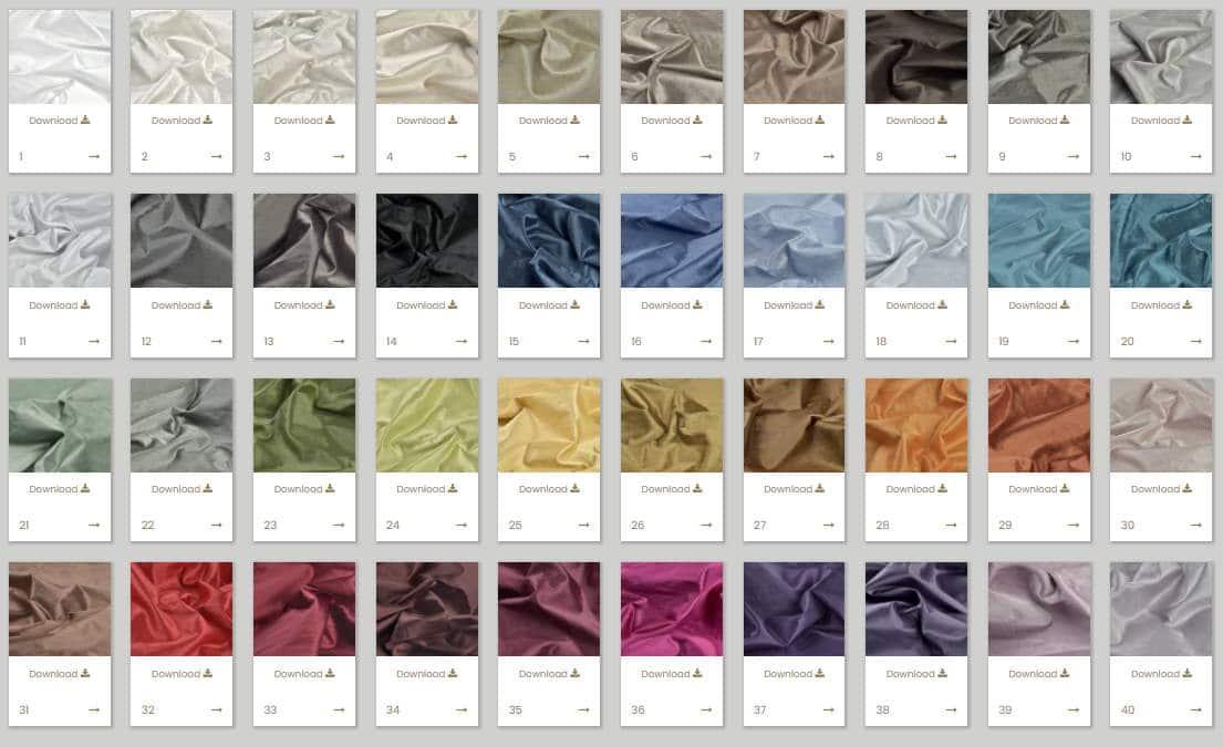 Vorhangstoff Uni Potenza 320cm Kobe Interior Fabrics 110775-1 Farben