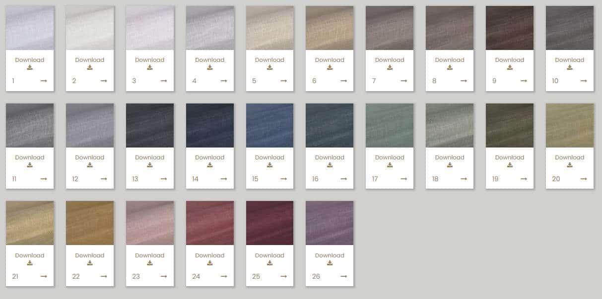 Vorhangstoff Uni Spezia FR 300cm Kobe Interior Fabrics 110927-26 Farben