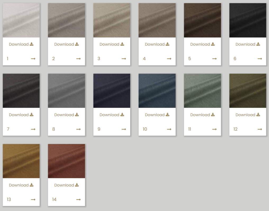 Vorhangstoff Uni Zingana FR Kobe Interior Fabrics 111202-9 Farben