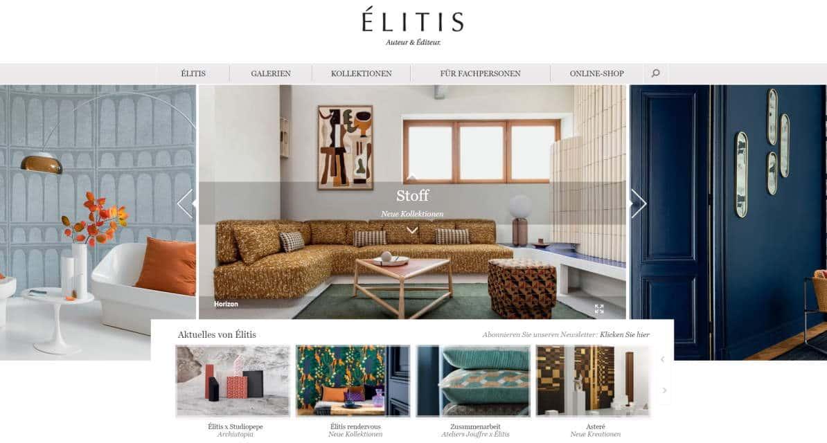 Homepage Dekostoffe kaufen von Elitis