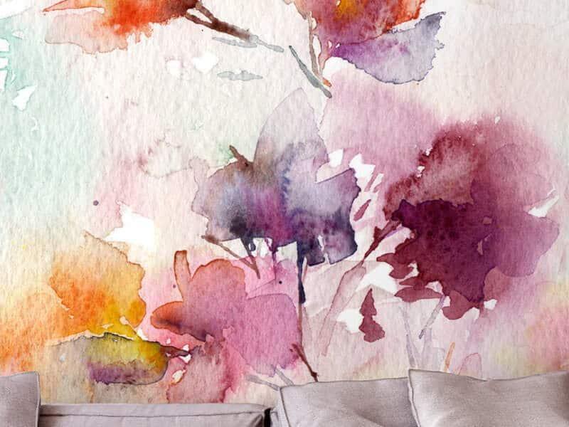 Marmortapete mit echtem Marmor - Design Floral