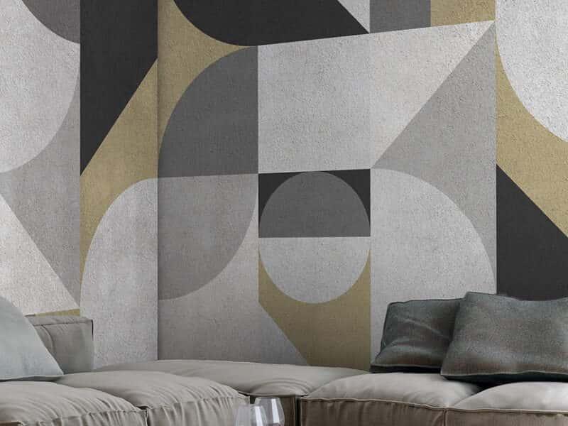Marmortapete mit echtem Marmor - Design Geometric