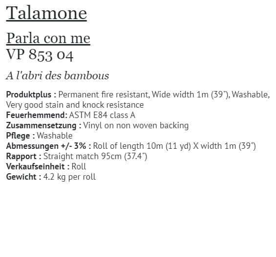Tapete Elitis Talamone Parla con me VP 853-04 Info