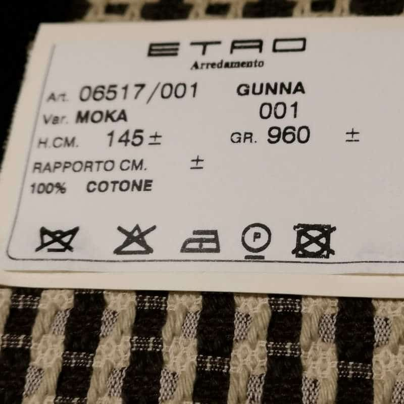 Bezugsstoffe gemustert Gunna 6545-1 Moka Etro-Stoffe Info